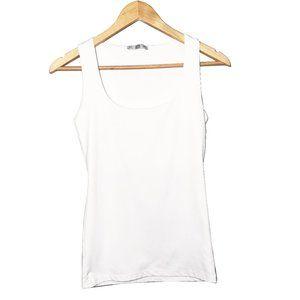 Zara Basics Square Front Tank in White